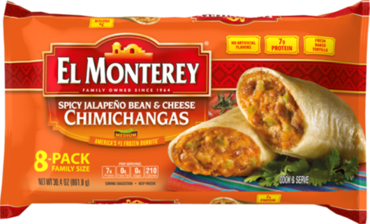 Spicy Jalapeno, Bean & Cheese Chimichangas - Family Pack