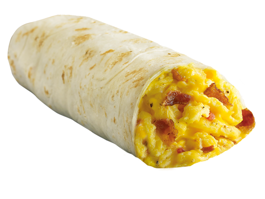 Egg, Bacon, Cheese & Salsa Burritos