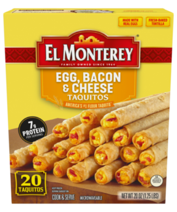 Egg, Bacon & Cheese Breakfast Flour Taquitos