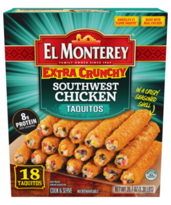 Extra Crunchy Southwest Chicken Taquitos